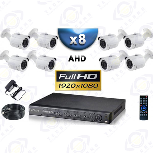 قیمت دوربین مدار بسته هشت کاناله 2 مگاپیکسل AHD